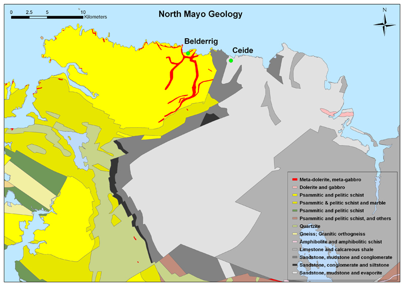 north mayo geology